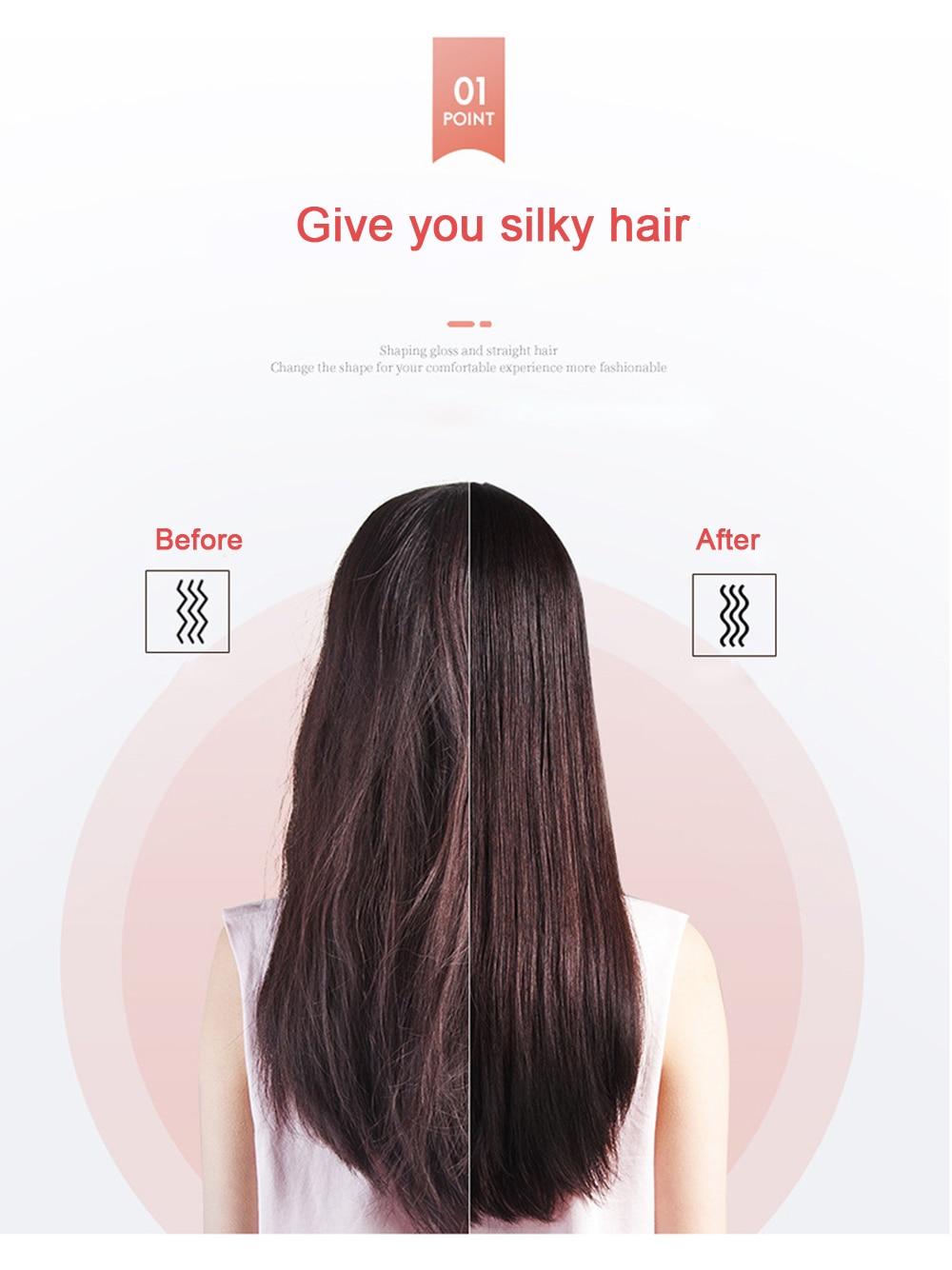 Hair Straightener Hot Comb Hair Straightener Brush Wet Dry Use Brush Comb Hair Straight Styler Curling Iron Curler Comb enlarge