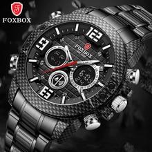 2021 LIGE Brand Foxbox Watch For Men Carbon Fiber Case Sport Quartz Mens Watches Military Waterproof