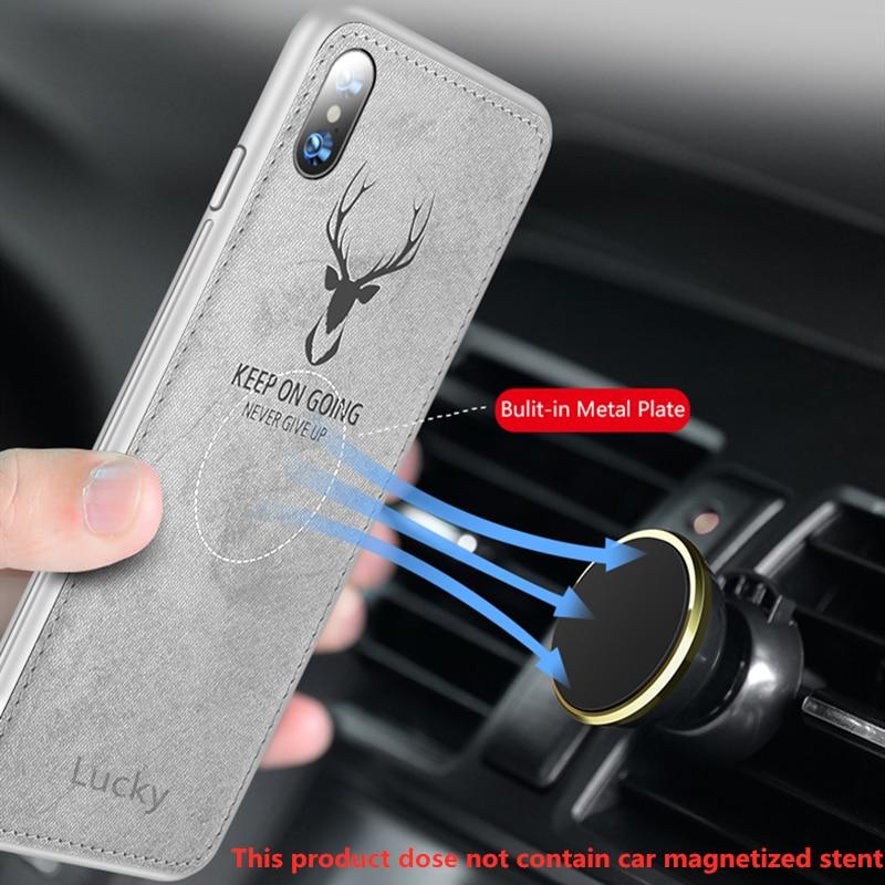 Funda magnética para coche de TPU suave con textura de ciervo 3D para Huawei Nova 3 Nova3 3e con placa magnética para Huawei nova 3i Nova3i i cubierta