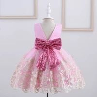 baby children girl dress 2021 kids ceremonies party summer princess wedding party dress sequins sleeveless for girls clothes 3y