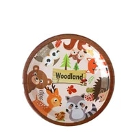 disposable dishes plates birthday party supplies animal panda donut childrens party decoration zoo disposable tableware set