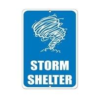 storm shelter hazard sign emergency aluminum metal sign 8 x 12 inch