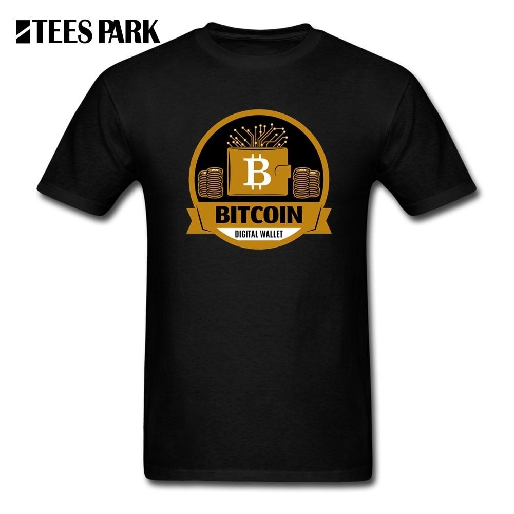 Tee Shirt Men Bitcoin Digital Wallet Cryptocurrency T Shirts Teenage 100% Cotton Short Sleeve T-Shirt New Arrival Crew Neck Tops
