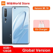 "Globale Version Xiaomi Mi 10 8GB 128GB Handy 5G Snapdragon 865 Octa Core 108MP Quad Kamera 6.67 ""AMOLED Smartphone 4780mAh"