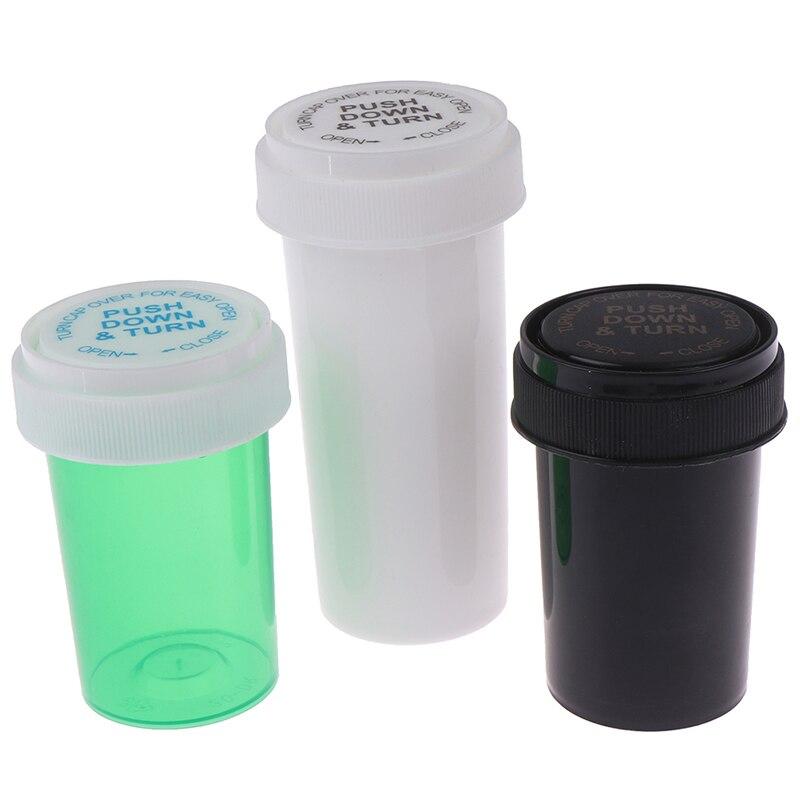 75ML/110ML/52ML/29ML de plástico empujar hacia abajo el envase del frasco de almacenamiento de malezas tarro para alijo píldora estuche para botellas cajas de hierbas