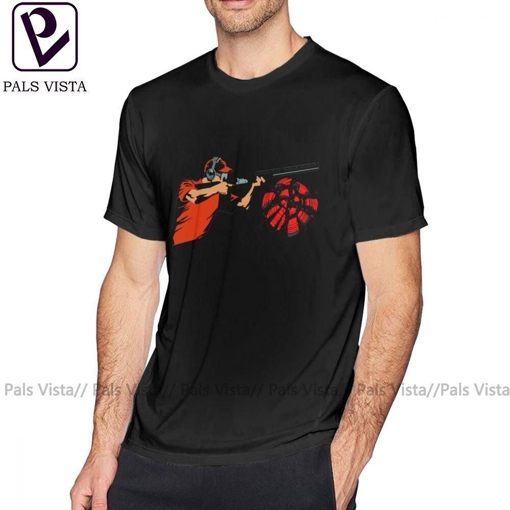 Camiseta Skeet de tiro de arcilla para disparar arma Skeet Trap Target Clay Breaker, Camiseta de algodón para hombre, camiseta Casual