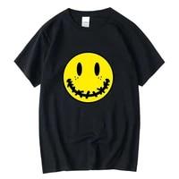 xin yi mens high quality 100 cotton streewear cool smile print t shirt casual loose men t shirt o neck male t shirt tee tops