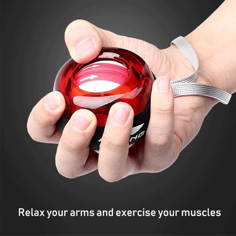 Li ning bola de pulso masculino antebraço treinador aperto super gyro powerball exercício profissional força do braço pulso treinador fitness