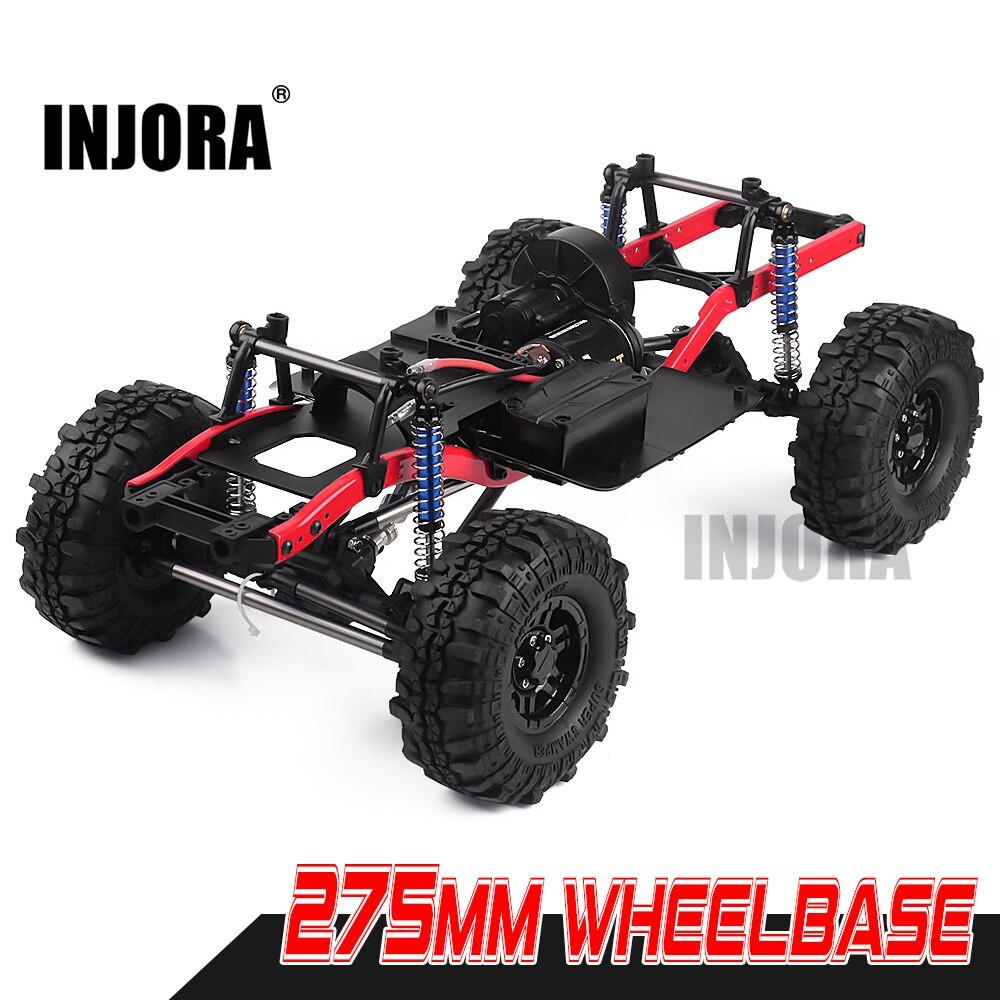 INJORA RC автомобиль 275 мм Колесная база в сборе рама шасси с колесами для 1/10 RC Гусеничный автомобиль SCX10 D90 TF2 MST