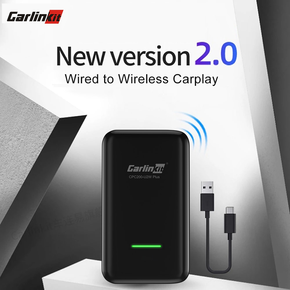 Carlinkit 2.0 Wireless CarPlay Dongle IOS 14 Adapter for Audi Benz Mazda Porsche Volkswagen Volvo Fo