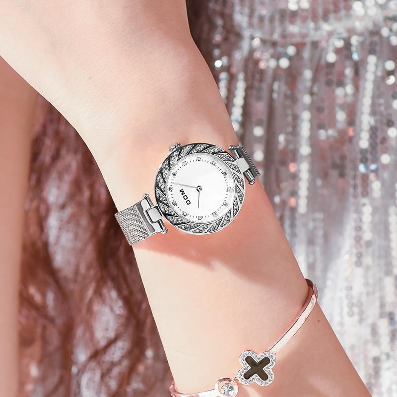Watch Women DOM Top Brand Luxury Quartz Wrist Watch Casual Steel Mesh Belt Ultra Thin Women Waterproof Watch Clock enlarge