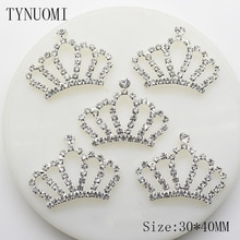 Hot Sale 10Pcs / Set Rhinestone Button Metal Crown Decoration Crafts DIY Wedding Decoration Embellishment Button
