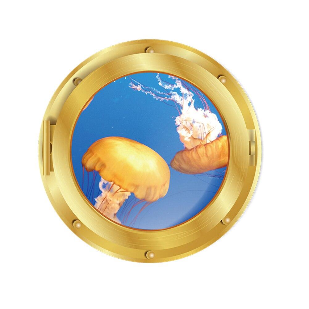 Реалистичное окно 3D морской мир настенные наклейки ПВХ обои диаметр 29 см для гостиной спальни украшения J2Y
