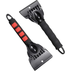 Ice Scraper Snow Frost Ice Removal Tool,Snow Ice Brush,Sturdy,Foam Grip,Compact Size,for Car Auto SUV Truck