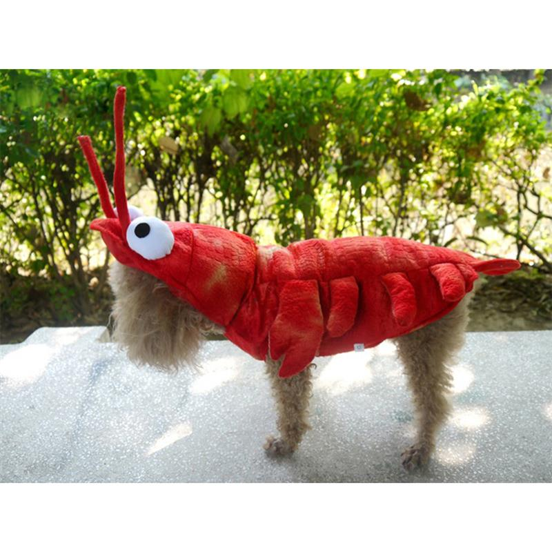 Funny Dog Clothes Halloween Lobster Costume Cat Christmas Suit Dogs Pet Overalls Funny Clothing Cat Clothes Pet Supplies