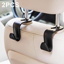 2 Pcs Car Hook Seat Hook SUV Back Seat Headrest Hanger Storage Hooks for Groceries Bag Handbag Autom
