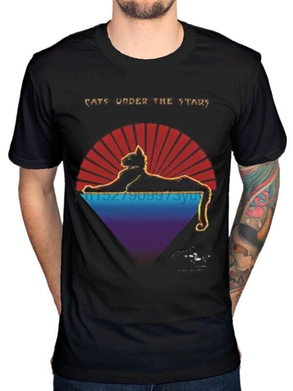 Джерри Гарсия, Кошки под звездами, новая футболка, гитарный, музыкальный, благодарный мертвец