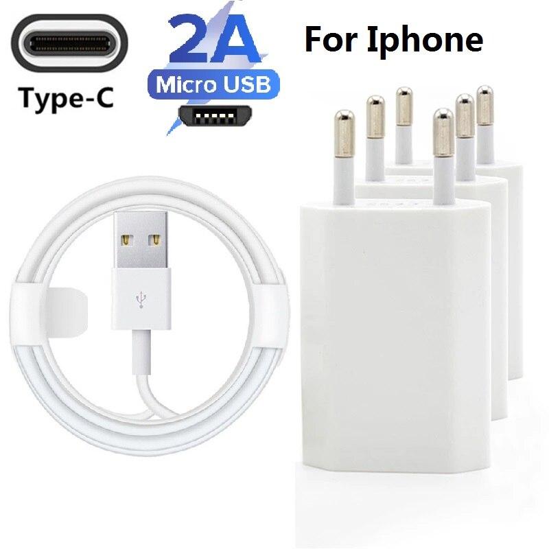 Cable de carga rápida USB de 5V y 2A para móvil, adaptador...