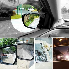 Car Waterproof fog Stickers Car Rearview Mirror Glass Film Waterproof Rain-Proof Window Membrane 6PC