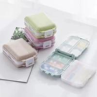 pill box wheat sealed travel medicine storage pill case organizer drug container tablet dispenser plastic independent lattice