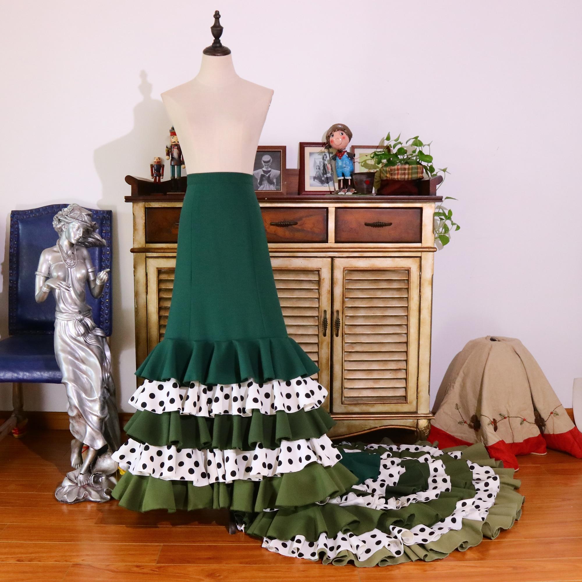 فستان فالس إسباني للبنات ، زي رقص الفالس القطني ، ملابس Foxtrot CWQ09