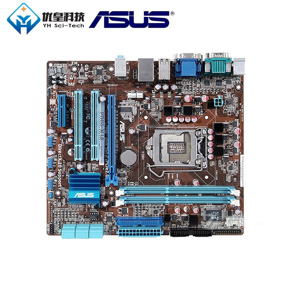 Asus P7H55-M LE Intel H55 Original Used Desktop Motherboard Socket LGA 1156 Core i7/i5/i3/Pentium DDR3 8G uATX