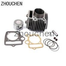 Zylinder Kopf mit Dichtungen Kolben Kit Reparatur Montage für 4 Hub 110cc Motor ATV