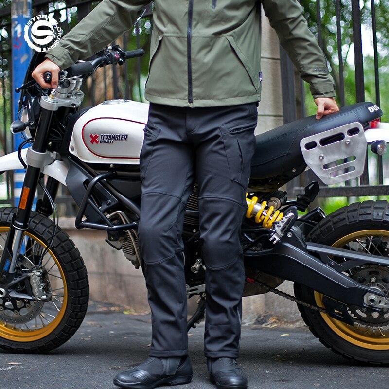 Брюки для езды на мотоцикле STAR FIELD KNIGHT, черные джинсы для езды на открытом воздухе, защитное снаряжение для езды на мотоцикле, светоотражающе...