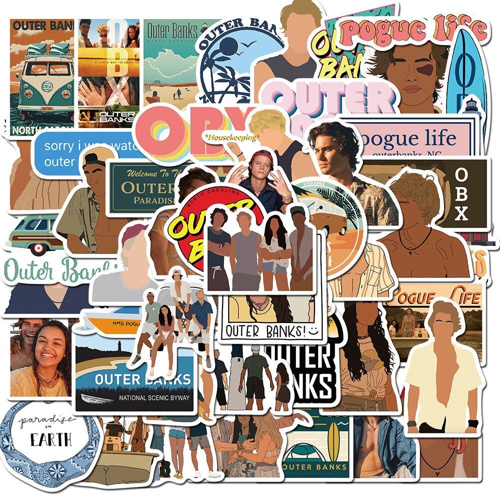 10/30 / 50 шт. американская ТВ серия Bund Quest внешние банки граффити чемодан компьютер Шлем водонепроницаемые наклейки оптом