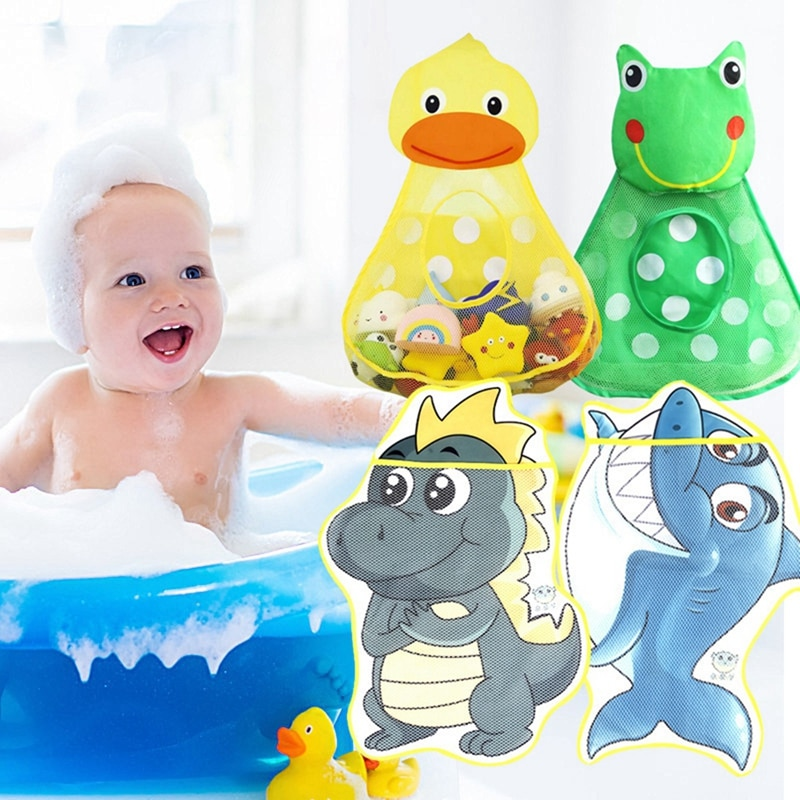Childrens Bathroom Playing Toy Storage Bag Cute Cartoon Animal Suction Cup Hanging Bath Practical