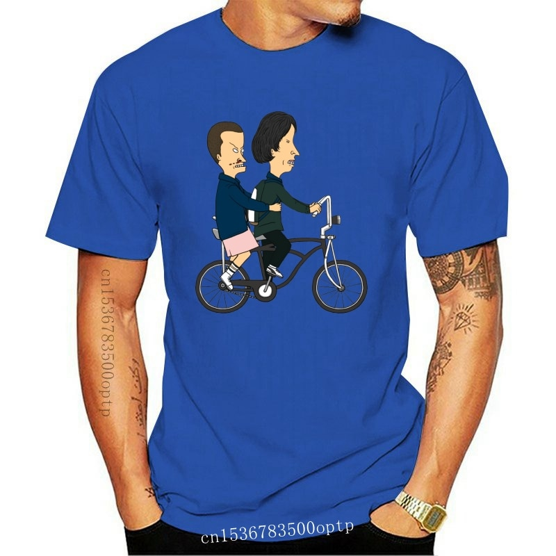 New Beavis And Butthead As El And Mike Strangely Stupid Funny White T-Shirt Breathable Tee Shirt
