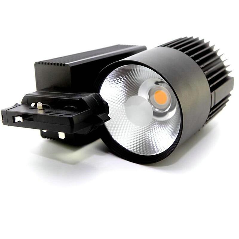 1 قطعة 4 أسلاك 3 المرحلة 30W 40W 50W LED COB LED المسار ضوء داخلي الإضاءة LED المسار الإضاءة LED بقعة ضوء شحن مجاني