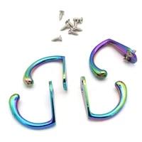 metal rainbow wall hook with screws decorative hooks coat hangers rack bag hooks bath towel hooks scarf hooks hat hooks 2pcs