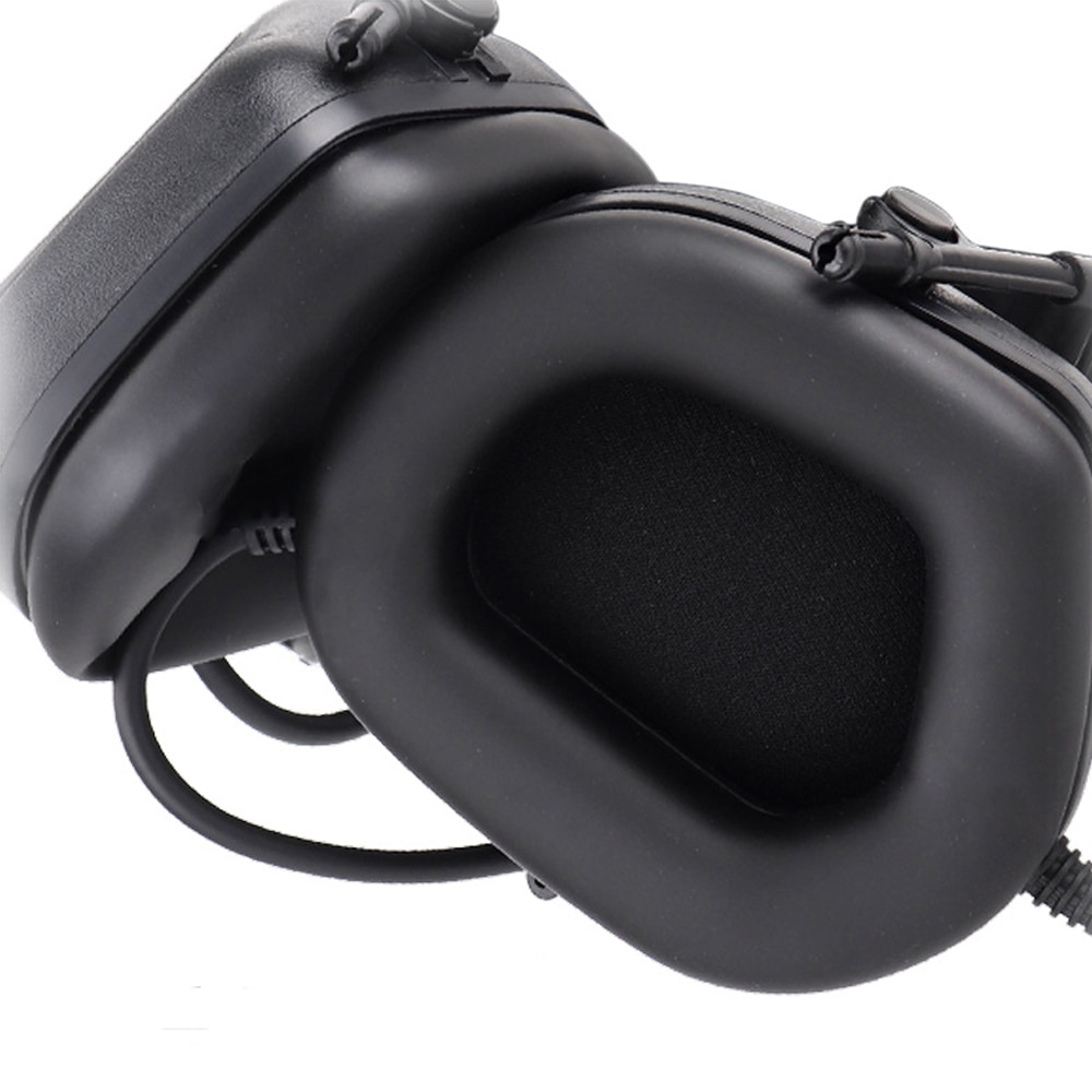 For Helmet Headset Anti-Noise Shooting Electronic Earmuff With Communication Microphone Sponge Ear Pad Hunting Accessories enlarge