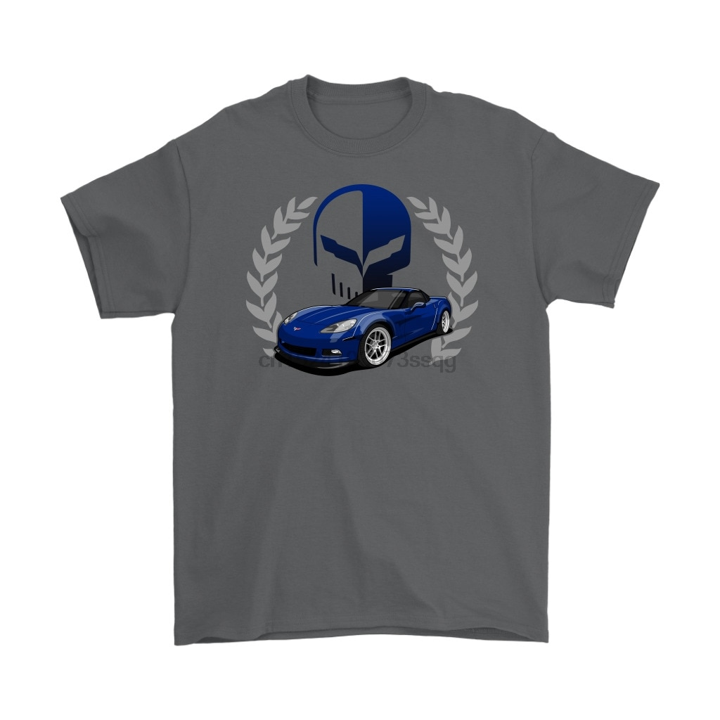 Corvette Jake cráneo C6 camiseta