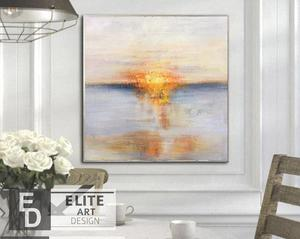 Oversized Ocean oil Paintings On Canvas Sunset Painting Contemporary Art Abstract Wall Art Canvas Living Room Wall Decor Modern