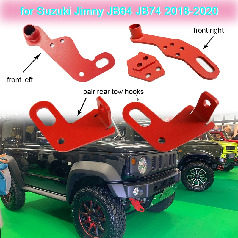 Tow Hook Front Left/Right or Rear Car Tow Hook for Suzuki Jimny JB64 JB74 2018 2019 2020 Car Exterior Parts Towing Hook Support
