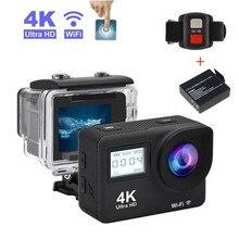 "Caméra daction sanescargot Full HD 4K 30fps WIFI 2.0 ""écran Mini casque étanche caméra"