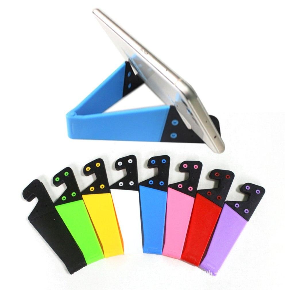Base de soporte para teléfono móvil plegable en forma de V de escritorio Universal Base de soporte de color en forma de V
