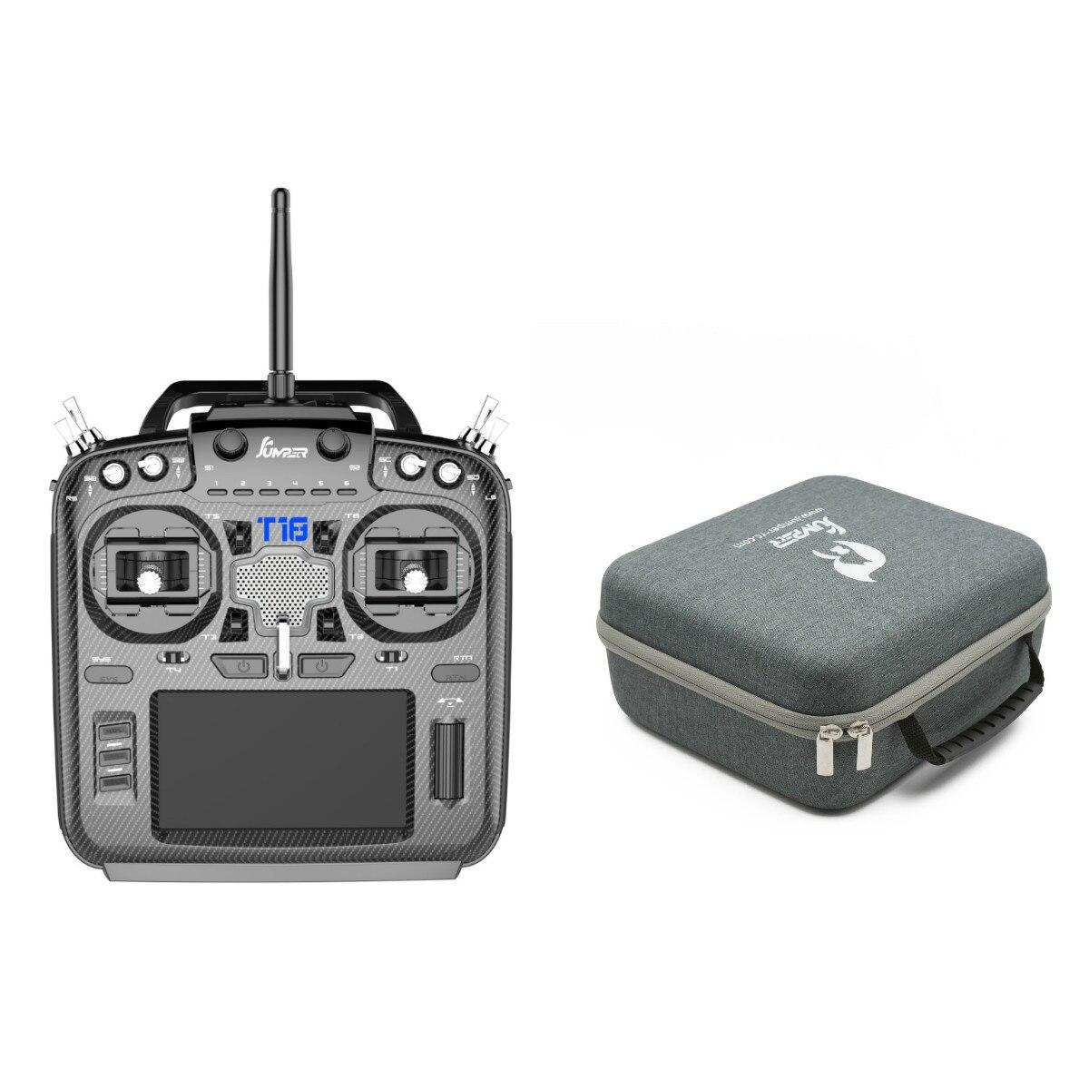 Neue Jumper T18 JP5-in-1 Multi-Protokoll RF Modul 915mhz Öffnen TX Halle Gimbal Radio Sender mit Handtasche Tragbare fall