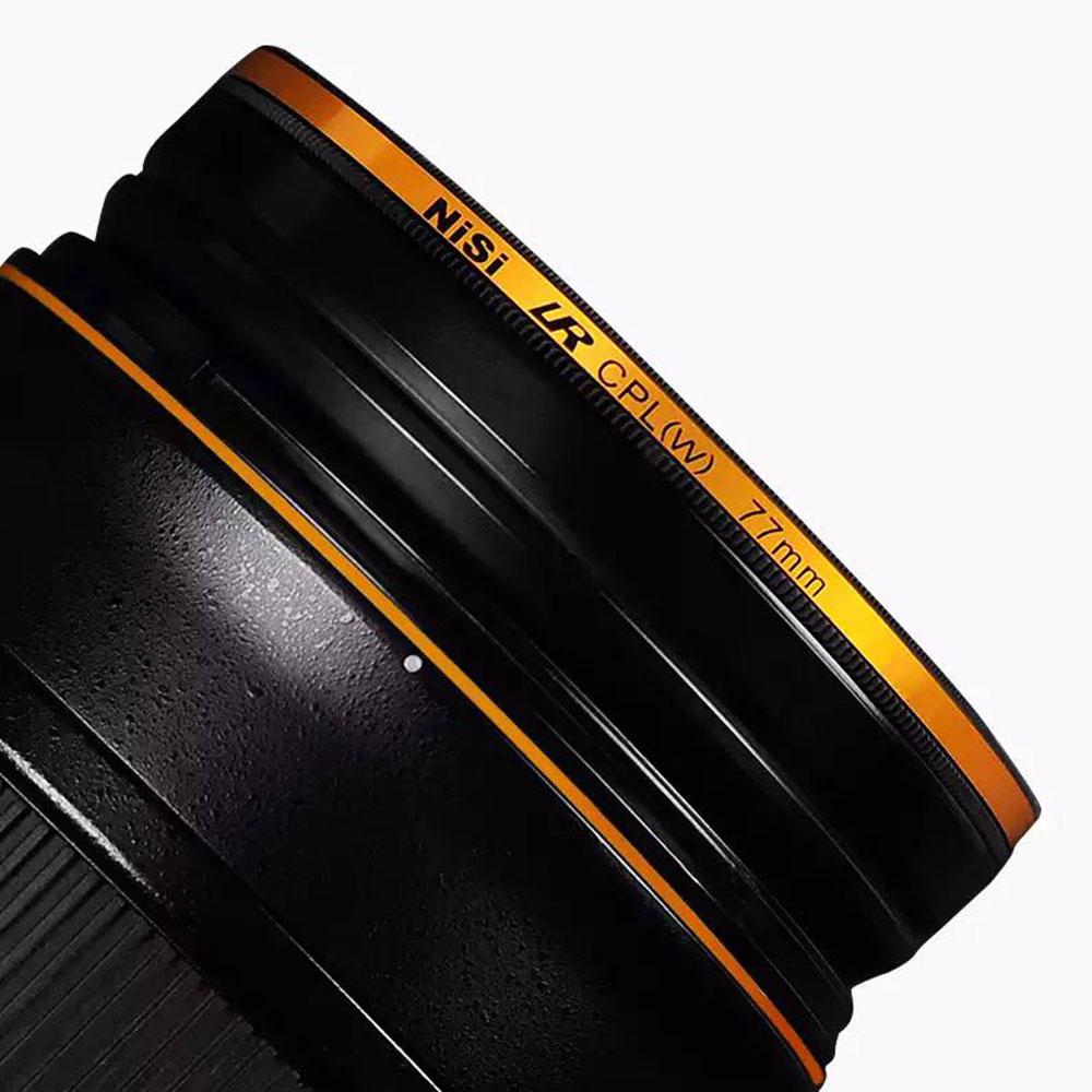 NISI LR CPL polarizador 67mm 72mm 77mm 82mm filtro Ultra fino dorado anillado impermeable filtro resistente al aceite para lente de cámara