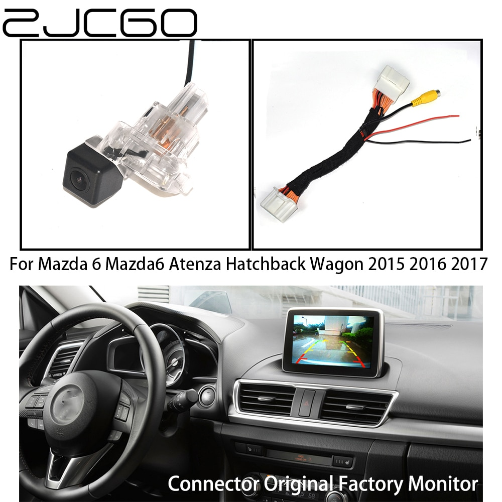 zjcgo hd car rear view reverse back up parking camera upgrade for mercedes benz mb c class w204 c180 c200 c280 c300 c350 c63 amg ZJCGO HD Car Rear View Reverse Back Up Parking Camera Upgrade Original Car OEM Monitor for Mazda 6 Mazda6 Atenza Hatchback Wagon