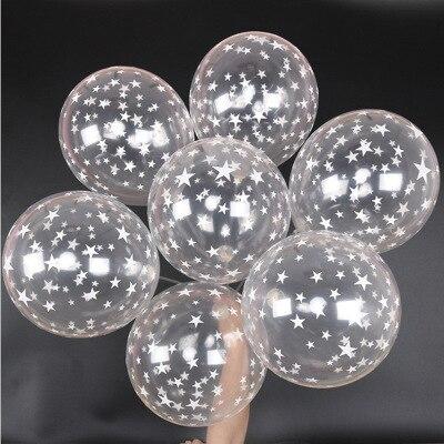 100 piezas/lote 12 pulgadas claro estrellas perla romántica Globos de látex de helio bola transparente para cumpleaños boda fiesta decoración Globos fiesta