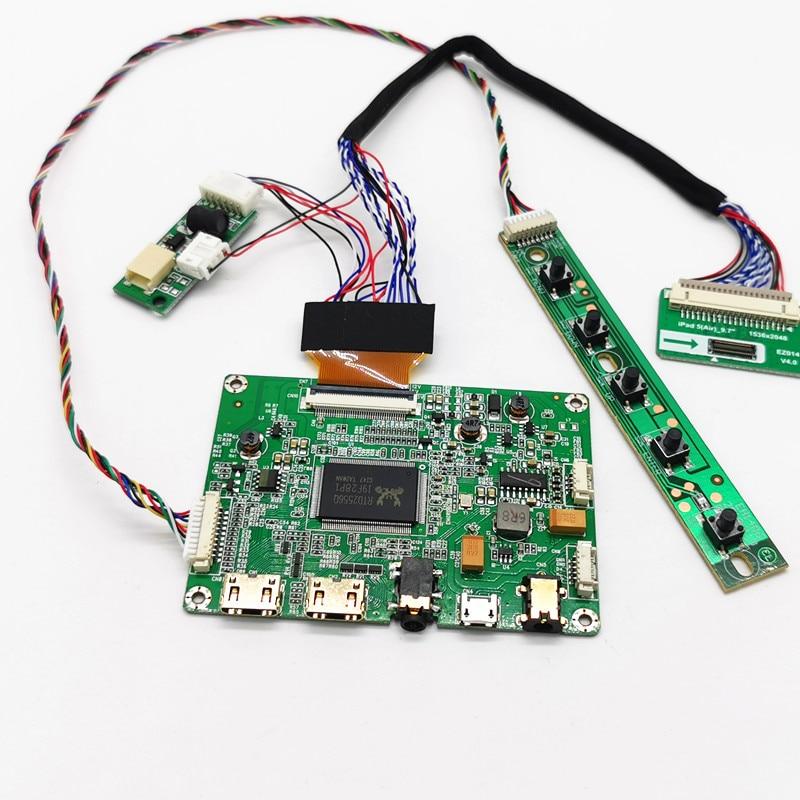 """Placa controladora miniHDMI 2 para iPad 5, LTL097QL02-W01 de 9,7 """"LP097QX2 SPAV 1536 × 2048 EDP, 4 carriles, 42 Pines, Panel de pantalla LCD"""