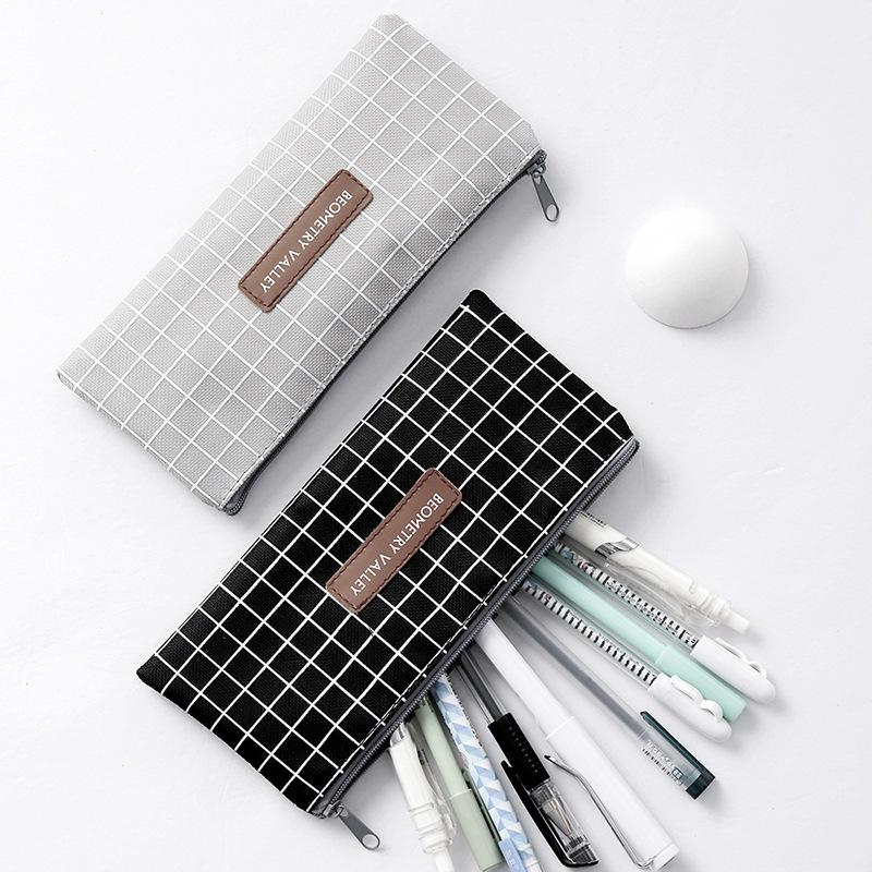 Canvas Pencil Bag Stationery Storage Organizer Pencil Case School Supplies Pencil Case School Box Pe