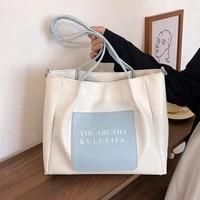 apu leather women luxury designer handbag 2021 shopper tote bag fashion large capacity color contrast letter print shoulder bags