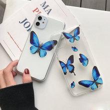 케이스 For Iohone 8 커버 버터 플라이 Iphone 11 Pro Max 11Pro XR XS Max 8 7 7 Plus 6 6S 5 5S SE 케이스 Thin Coque