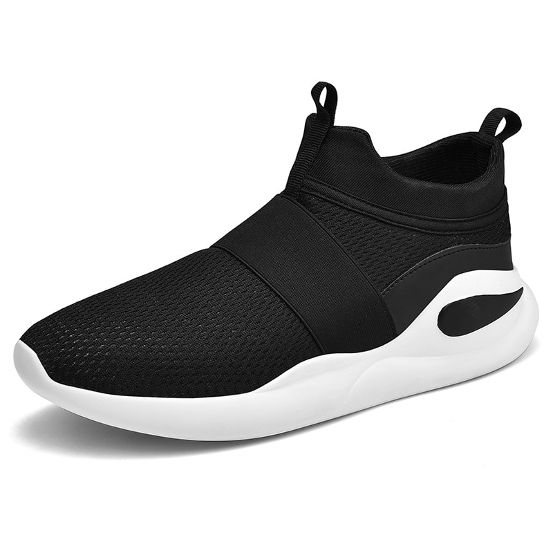 Zapatos ligeros para correr para hombre, zapatos de correr transpirables para hombre, zapatos sin cordones mocasines, zapatos informales para hombre talla 46