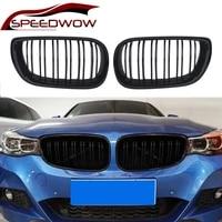speedwow gloss matte black car bumper grille racing grills for bmw e46 4 door 4d 3 series 2002 2005 car parts left right 2 pcs