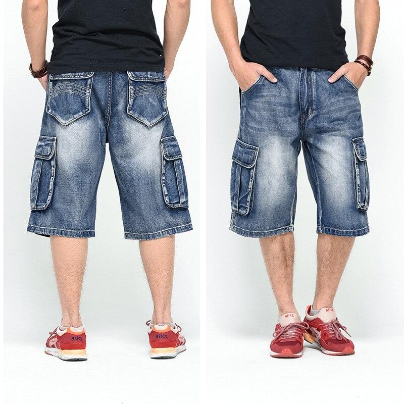 Summer New Men's Stretch Short Jeans Fashion Casual Nuevo 2021 hombres sueltos Jeans corto pantalones de los hombres pantalones